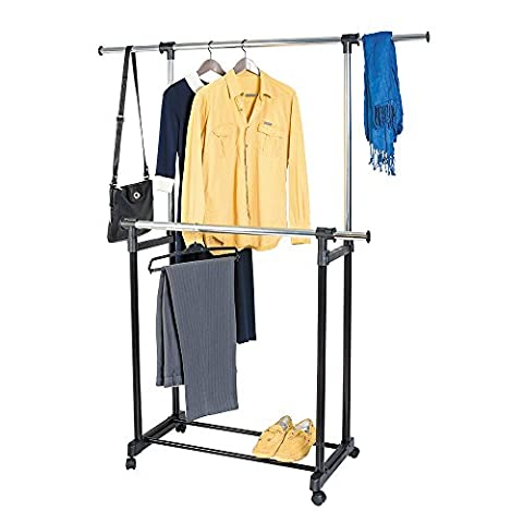 Art Moon Toronto Telescopic Double Clothes Rack Adjustable Length 85 – 155 Height
