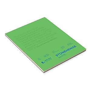 Stonehenge Pad White 9X12 15 Sheets