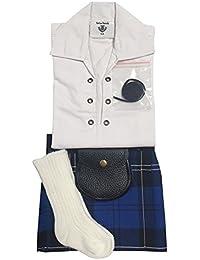Ramsay azul tartán bebé ajustable Kilt traje, camisa, Kilt manguera y Sporran 0–24meses multicolor Talla:6-12