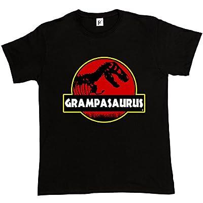 Grampasauras Grandad Grampa Funny Fathers Day T- Rex Old Dinosaur Men's Cotton T-Shirt
