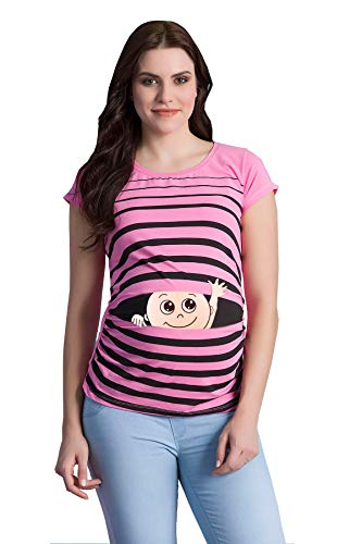 M.M.C. Ciao Ciao Premaman Abbigliamento Donna Magliette Premaman T Shirt Divertente Gravidanza Maniche Corte maternità