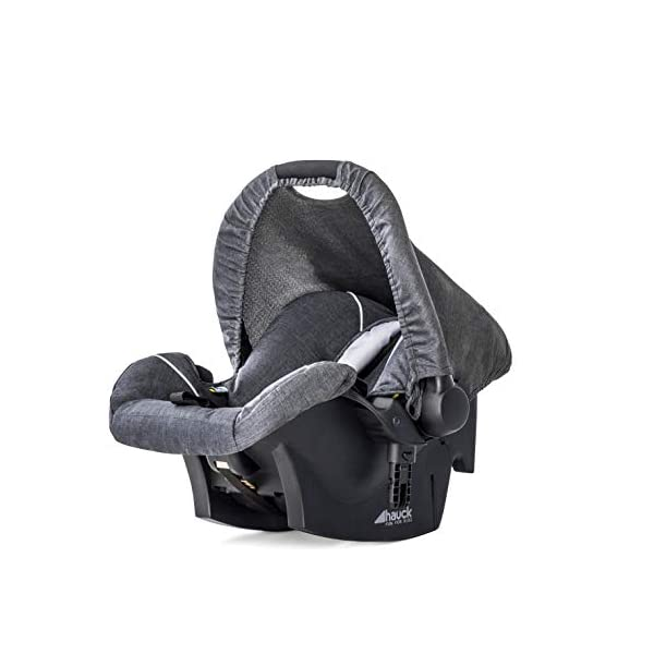 Hauck Pacific 4 Shop N Drive, Lightweight Pushchair Set with Group 0 Car Seat, Carrycot Convertible to Reversible Seat, Footmuff, Large Wheels, From Birth to 25 kg, Melange Charcoal Hauck  8
