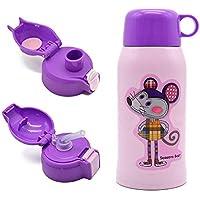 Termo Botella, Multipropósito Botella de Agua Térmica Para Niño, Para en  el Hogar y al Aire Libre, Sin BPA, 600ml, Ratón Morado
