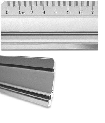 Aluminiumlineal mit Stahlkante 100cm