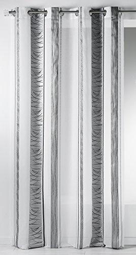 Hm6973298 home maison-tenda con fantasia a righe verticali in organza, in poliestere, 140 x 240 cm nero