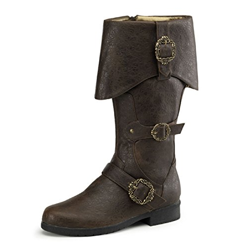 Higher-Heels Funtasma Piratenstiefel Carribean-299 braun Gr. 43,5-45