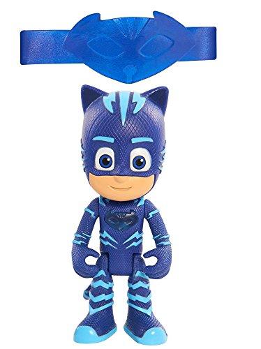 Giochi preziosi super pigiamini pj masks personaggio luminoso con bracciale per bambino, gattoboy