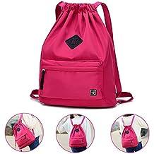 497f89b03 Risefit - Mochila Impermeable Casual de Cuerda,Bolsa Plegable de Tela,  Bolsa Casual y