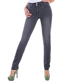 BD Damen Röhrenjenas Jeans Stretch Jeanshose Röhre in grau bis Übergröße