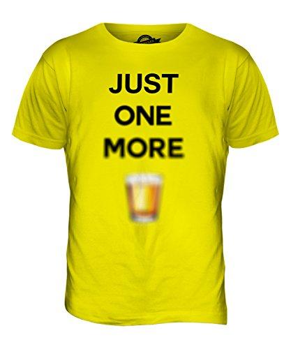 CandyMix Just One More Kurzer Herren T Shirt Zitronengelb