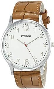 Amazon Brand - Symbol Men's Analog White Dial W