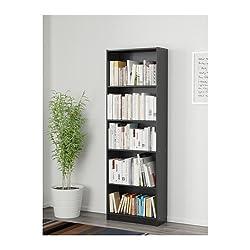 FINNBY Bücherregal schwarz {Breite: 60cm Tiefe: 24cm Höhe: 180cm}