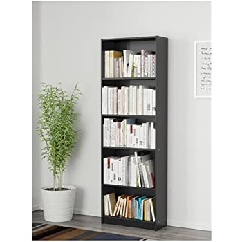 Finnby Bookcase Black Width 60 Cm Depth 24 Cm Height