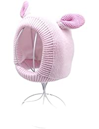 d5f7ee8a0491 Hosaire Enfants Hiver Chapeau Bébé Tricoté Bonnet Mode Bonnet à capuche  Chapeau en peluche Mignonne Crochet Béret Casquette Bonnet en…