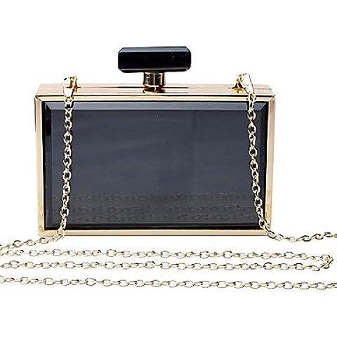 Da Wu Jia Ladies borsetta di alta qualità delle donne di lusso elegante high-grade acrilico Bottiglie di profumo Borsa serale , blu