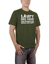 Touchlines Herren T-Shirt Läuft bei Mir, Zwar Rückwärts und Bergab