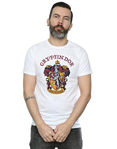 Harry Potter Herren Gryffindor Crest T-Shirt Weiß X-Large