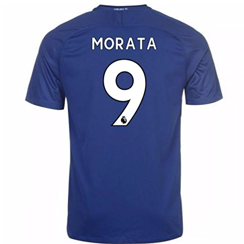 UKSoccershop 2017-18 Chelsea Home Shirt (Morata 9) - Kids