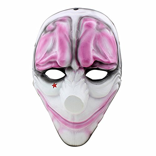 CCOWAY Halloween Masken, Payday 2 Theme Horror Cosplay Party Masken (Houston) (Houston Kostüm)