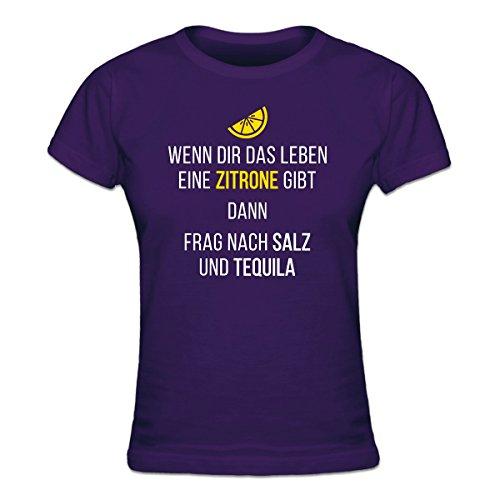 Shirtcity Wenn Dir Das Leben Eine Zitrone Gibt Dann Frag Nach Salz und Tequila Frauen T-Shirt by (Gibt-shirt Zitronen Dir Leben Das)