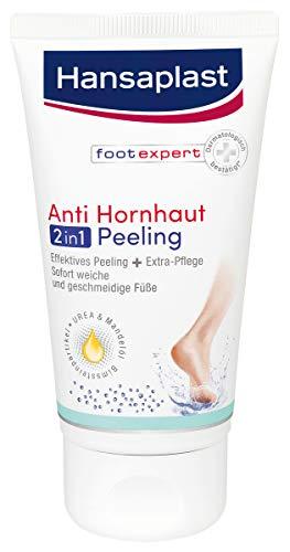 Hansaplast Anti Hornhaut 2in1 Peeling, Hornhaut Entfernung mit Bimsstein und Gebirgssalz, Fußpeeling für sofort samtweiche Füße, 75 ml