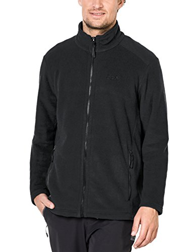 Jack Wolfskin Herren Midnight Moon Klassisch Fleecejacke, Black, XL