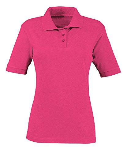 Alexandra stc-nf231bp-l Damen Polo Shirt, Uni, 65% Polyester/35% Baumwolle, Größe L, hell rosa -