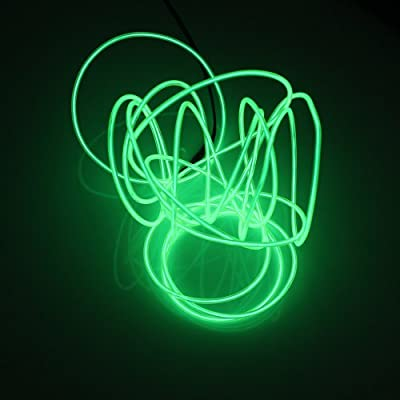 Lerway® Light Green 3M Tron Neon Glowing Electroluminescent Wire EL Wire with Transformer Christmas Light Party light