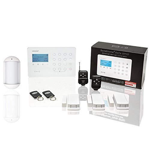 Safe2Home Funk Alarmanlagen Set SP110 mit Tierimmun Bewegungsmelder und Sabotageschutz GSM Alarmsystem SMS Alarmierung - Alarmanlagen fürs Haus Büro