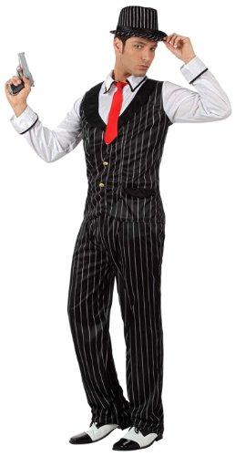 Atosa 129 - Mafioso-Kostüm mit Weste,  XS-S (Carnevale Kostüm Adulti)