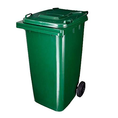 SJLJT-Trash Can Contenedor De Basura Al Aire Libre Contenedor De Basura De Saneamiento Grande 240L Clasificación...