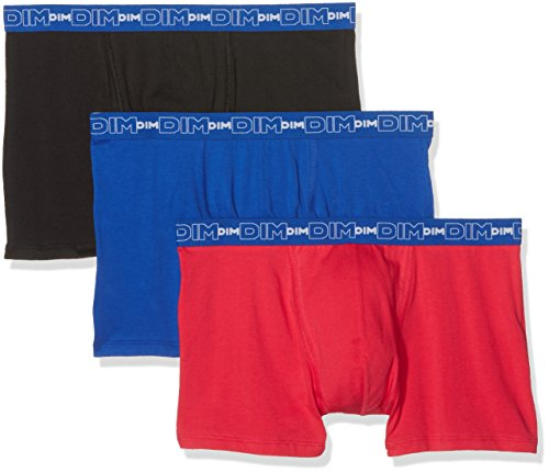 Dim – Coton Stretch – Boxer – Uni – Lot de 3 – Homme