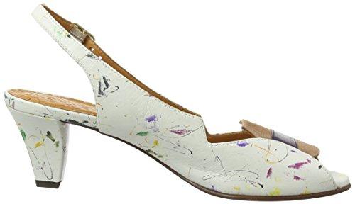 Chie Mihara Winka, Sandales Bride cheville femme Multicolore - Mehrfarbig (rio leche taiche grape ante peach)