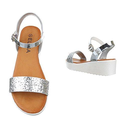 Ital-Design , Spartiates femme Silber