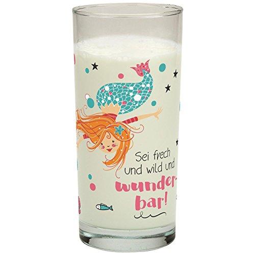 Gruss und Co 45638 Trink-Glas mit Meerjungfrau, Fräulein Meer, Wasser-Glas, 50 cl - Gläser Wasser Trink