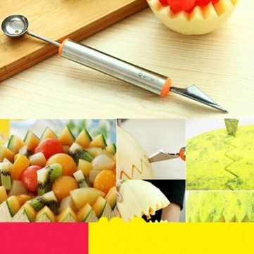 Pakhuis Fruit Schnitzmesser Wassermelone Hami Melone Kugeln Eis Ein Löffel