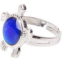 SODIAL(R) En forma de tortuga cambiar color animo anillo ajustable ---