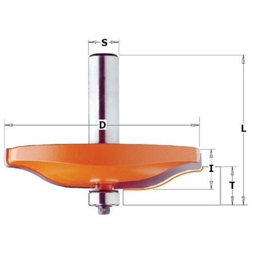 CMT Orange Tools 990.501.11 - Fresa para plafones hor.con rodam.hm s 12 d 82.5x15 (a)