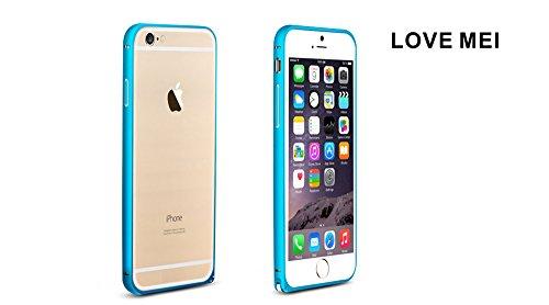 Love Mei Schutzhülle für Apple iPhone 6(11,9cm) Ultra Dünn Aluminium Bumper Rahmen Cover silber