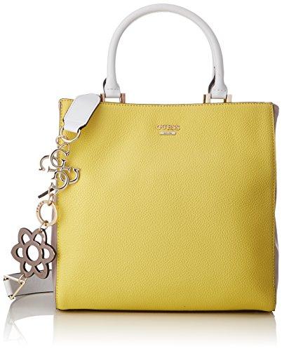 Guess Damen Bags Hobo Umhängetasche, Mehrfarbig (Lemon Multi), 13x28x28.5 centimeters (Taschen Schuhe Guess)