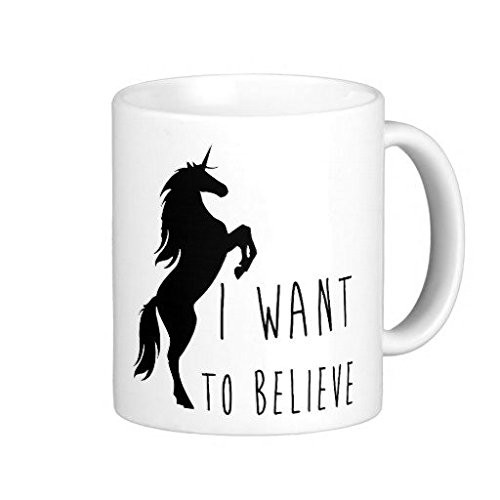 I Want To Believe Unicorn-Tazza da caffè, 11 Oz