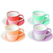 1815por Royal Doulton–Taza de café y platillo (4unidades, Multi Color, juego de 4