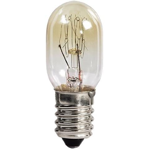 HAMA Lampadina per forno 15 W, 300°, E14, a pera, Colore Trasparente - Forno Pera