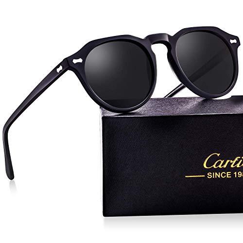 b08344935b Gafas de sol mujer polarizadas retro redondas 100% uv400 protección para  viajes