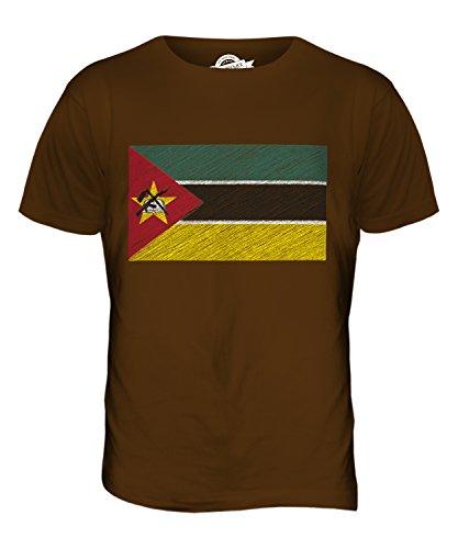 CandyMix Mosambik Kritzelte Flagge Herren T Shirt Braun