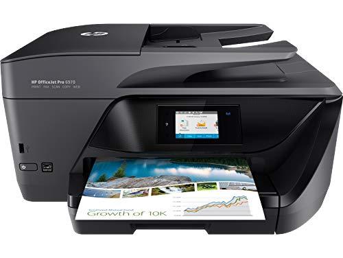 HP OfficeJet Pro 6970 T0F33A Stampante Multifunzione a Getto di Inchiostro, Stampante, Scanner, Fotocopiatrice, Fax, Wi-Fi, Ethernet, USB, con 3 Mesi di HP Instant Ink Inclusi, Nero