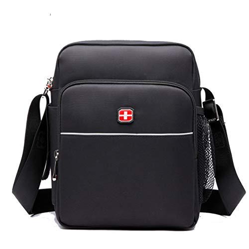 Kawei Herren Nylon Mode Hochwertig Umhängetasche Classic Einfach Aktentasche Schlicht Citytasche Business Umhänge Taschen Vintage Sportliche Satchel Bags -