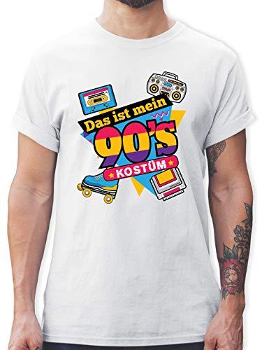 Karneval & Fasching - Das ist Mein 90er Jahre Kostüm - 3XL - Weiß - L190 - Herren T-Shirt ()
