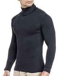 Leif Nelson Herren Rollkragenpullover Pullover Rollkragen Hoodie T-Shirt Slim Fit