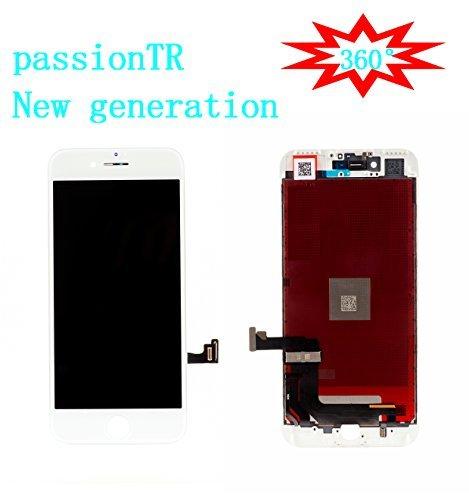 passiontr Weiß iPhone 811,9cm LCD-Bildschirm Ersatz 360Grad Alle Winkel Unter Sonnenbrille 2Nd Generation Digitizer Rahmen Montage Full Set Touch Screen Display